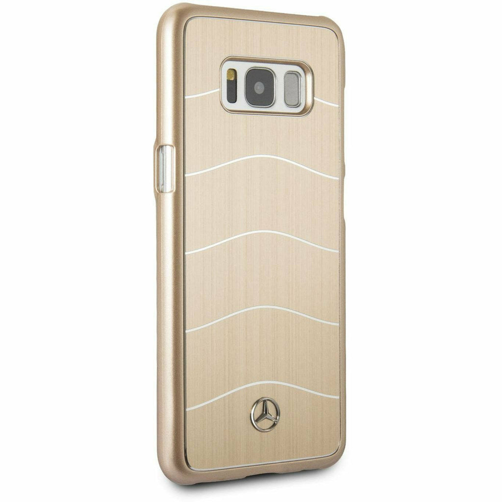 MERCEDES-BENZ REAL BRUSHED ALUMINUM WAVE VIII CASE GOLD- SAMSUNG GALAXY S8