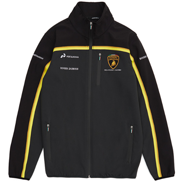 Automobili Lamborghini Gold 2019 Men's Black Softshell Jacket