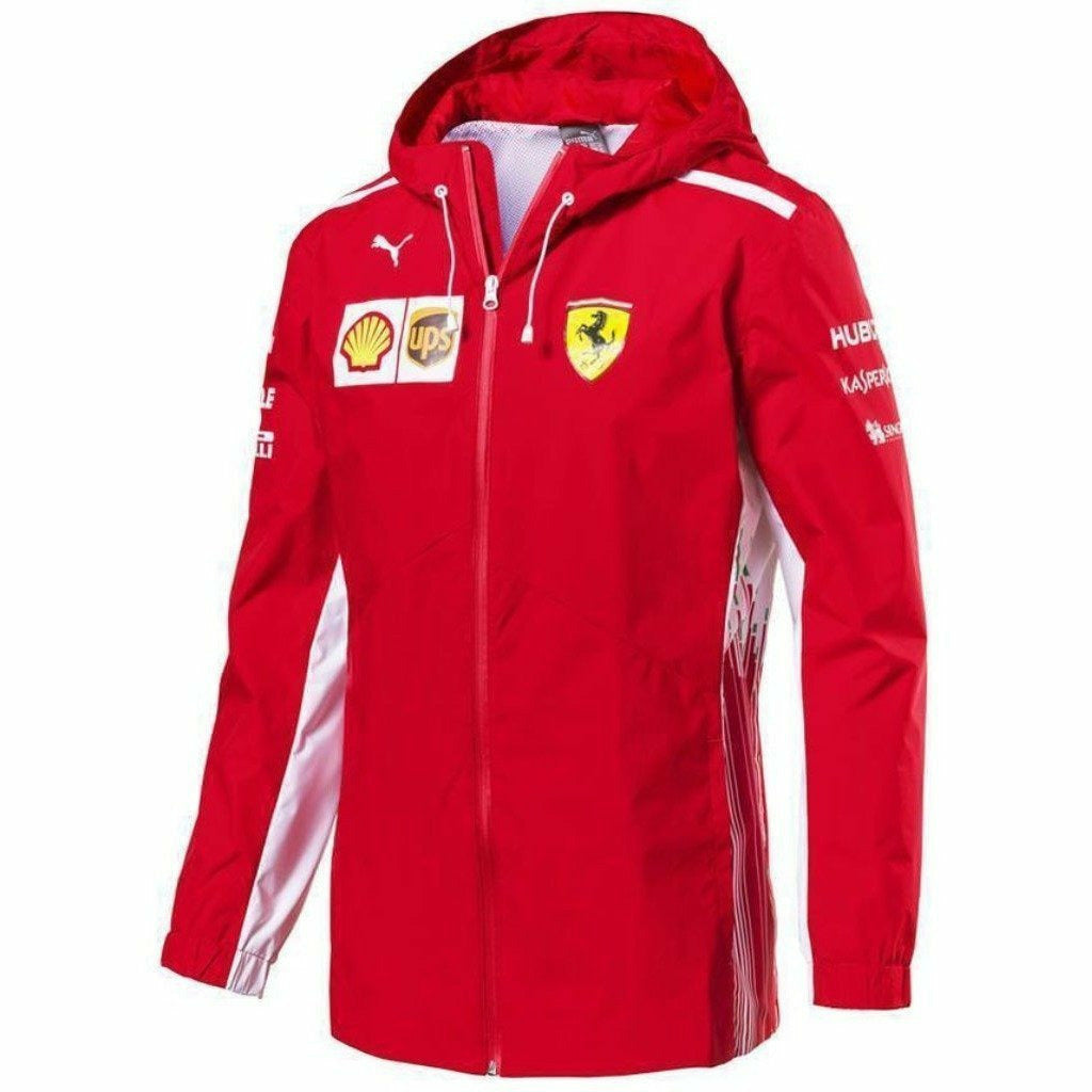 Scuderia Ferrari Formula 1 Men's 2018 Red Team Rain Jacket