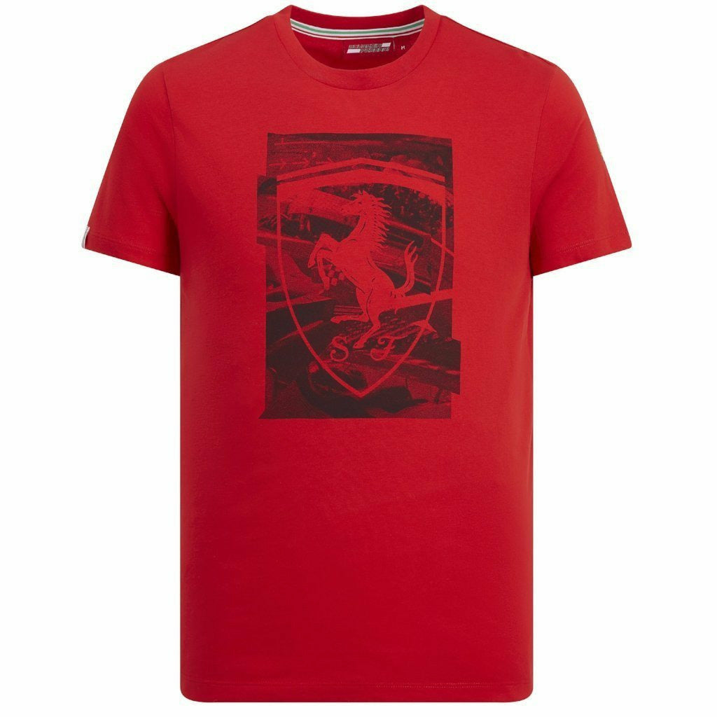 Scuderia Ferrari Men's F1 Red Shield T-Shirt