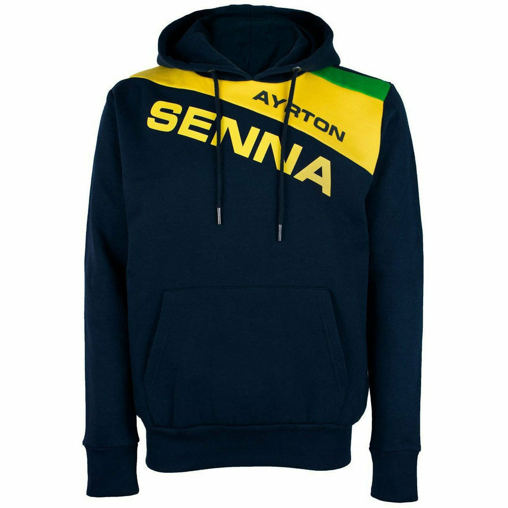 Ayrton Senna Authentic Men's Hoody Racing Navy