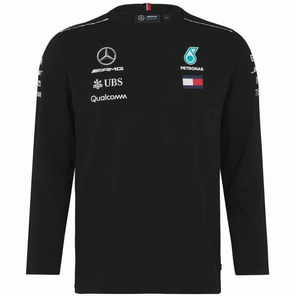 Mercedes Benz AMG Formula 1 Petronas Black 2018 Long Sleeve Drivers T-Shirt
