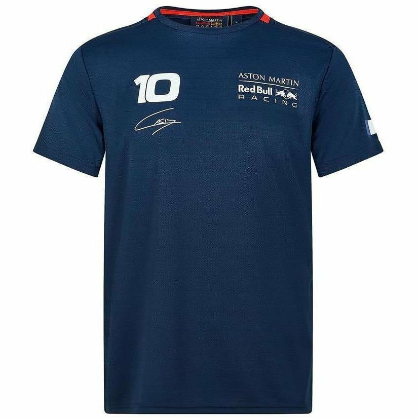 Red Bull Racing F1 Pierre Gasly Sportswear #10 Blue T-Shirt