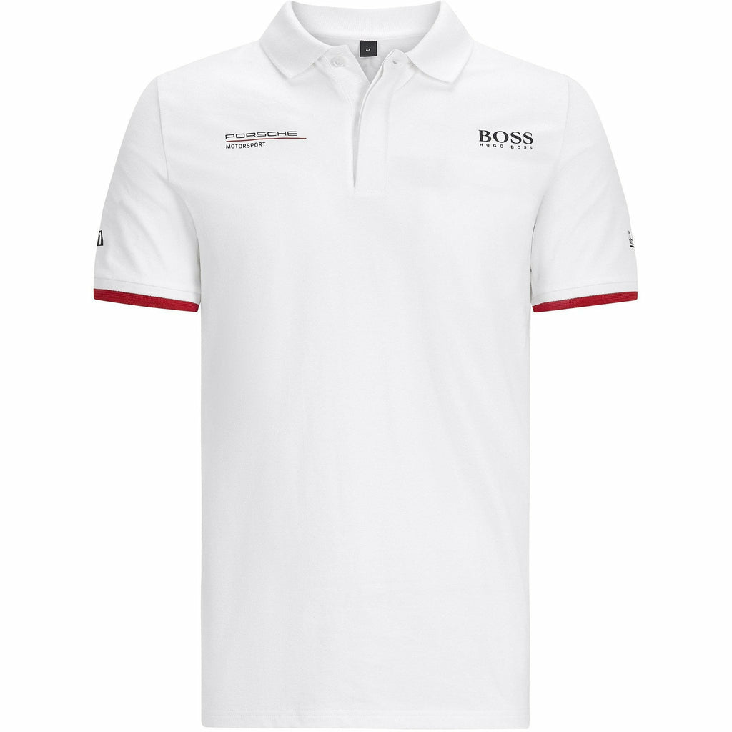 Porsche Motorsport Men's Team White Polo w/Motorsport Kit