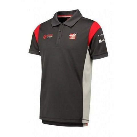Haas F1 2017 Grey Men's Team Polo Shirt (3XL)
