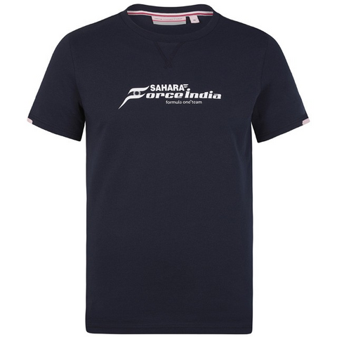 Sahara Force India Formula 1 Authentic Men's 2018 Blue Logo T-Shirt