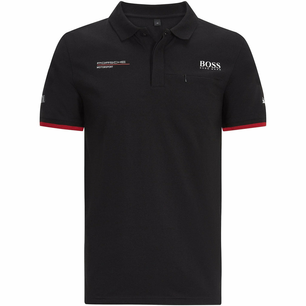 Porsche Motorsport Men's Team Black Polo w/Motorsport Kit