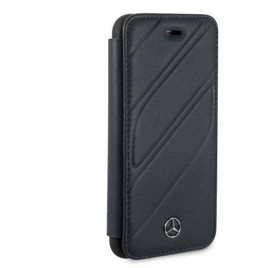 MERCEDES BENZ NAVY LEATHER NEW ORGANIC I BOOKSTYLE CASE