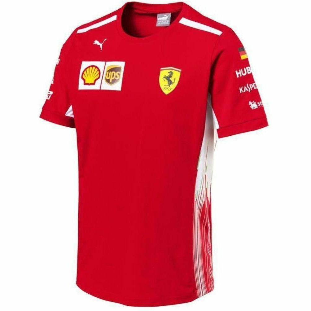 Scuderia Ferrari Formula 1 Men's Red 2018 Sebastian Vettel Team T-Shirt