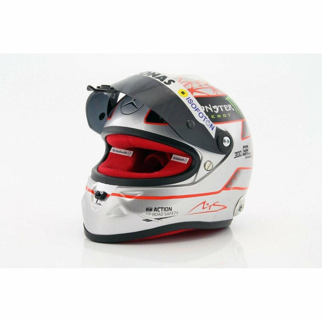 Michael Schumacher Authentic SPA 300th GP 2012 Scale 1:2 Helmet