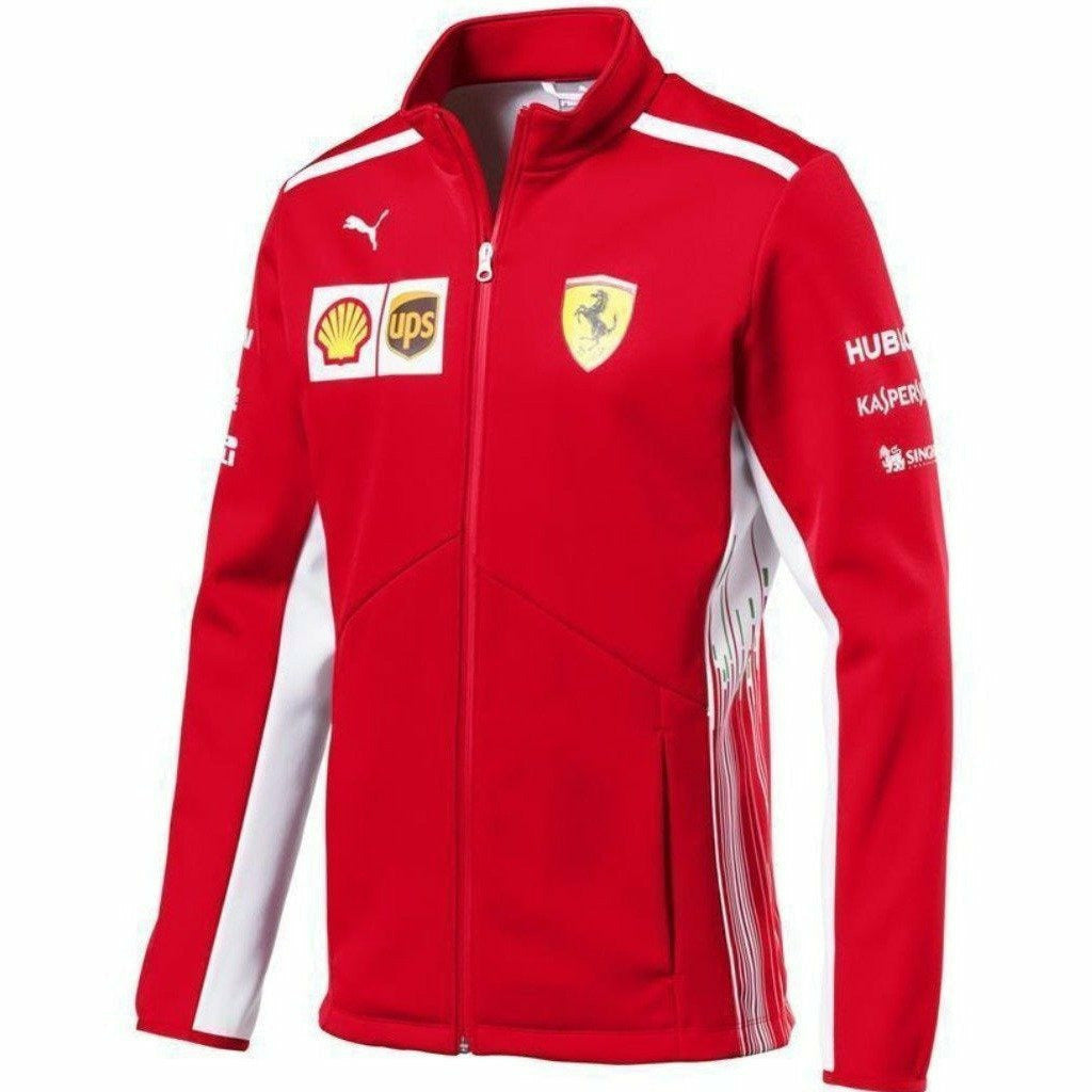 Scuderia Ferrari Formula 1 Men's Red 2018 Softshell Team Jacket w/Sponsors