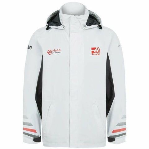 Haas American Team Formula 1 Authentic 2018 Men's Team Gray Rainjacket