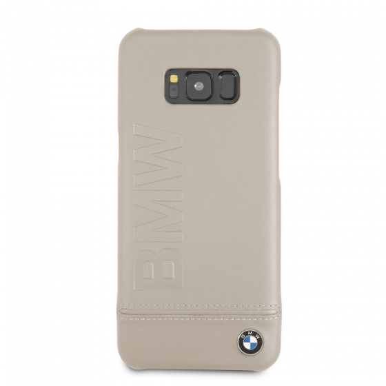 BMW TAUPE GENUINE LEATHER HARD CASE