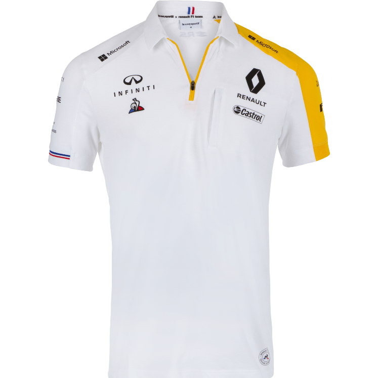 Renault F1 2019 Team Men's Polo White