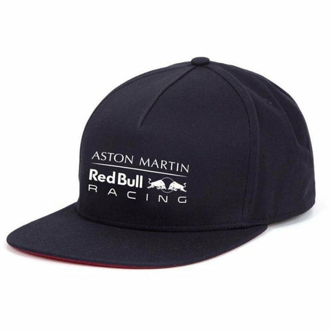 Red Bull Racing Formula 1 2018 Aston Martin Blue Logo Flat Brim Hat