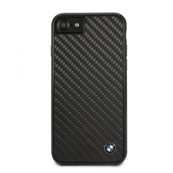 BMW IPHONE 7/8/X HARD PHONE CASE CARBON FIBER AND METAL LOGO