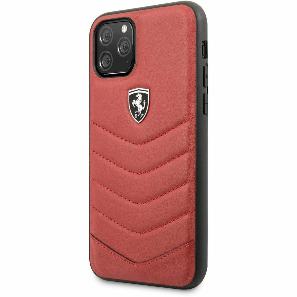Scuderia Ferrari PHONE CASE FOR IPHONE 11 PRO HARD CASE GENUINE LEATHER QUILTED OFF TRACK