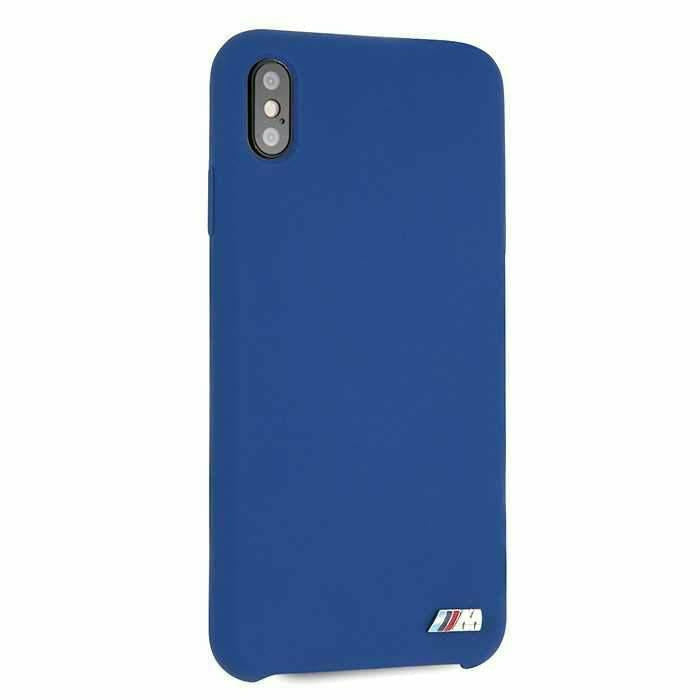 BMW Blue Silicone Hard Case, iPhone XS Max