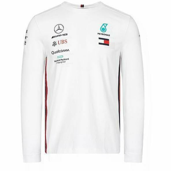 Mercedes-AMG Petronas Motorsport 2019 F1 Team Long Sleeve Driver T-Shirt White