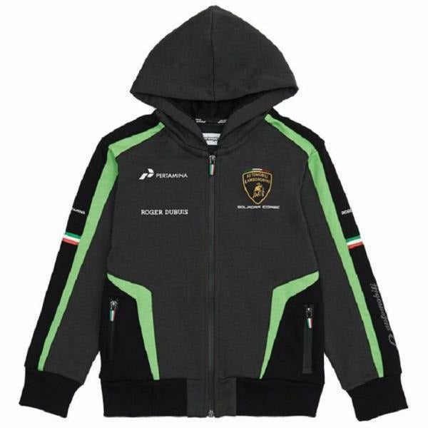 Automobili Lamborghini Squadra Corse 2019 Kid's Zip-Up Hoodie Sweatshirt Black
