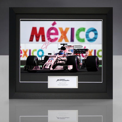"Sahara Force India Formula 1 Sergio ""Checo"" Perez Mexico GP Signed Photo"