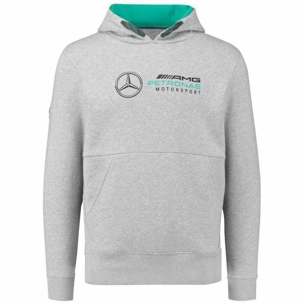 Mercedes Benz AMG Petronas Formula 1 Men's Gray 2018 MAMGP Hooded Sweatshirt F1