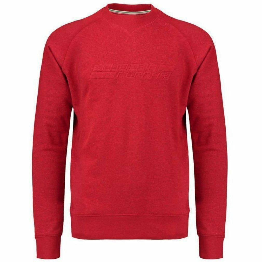 Scuderia Ferrari Formula 1 Men's 2018 Red Embossed Sweatshirt