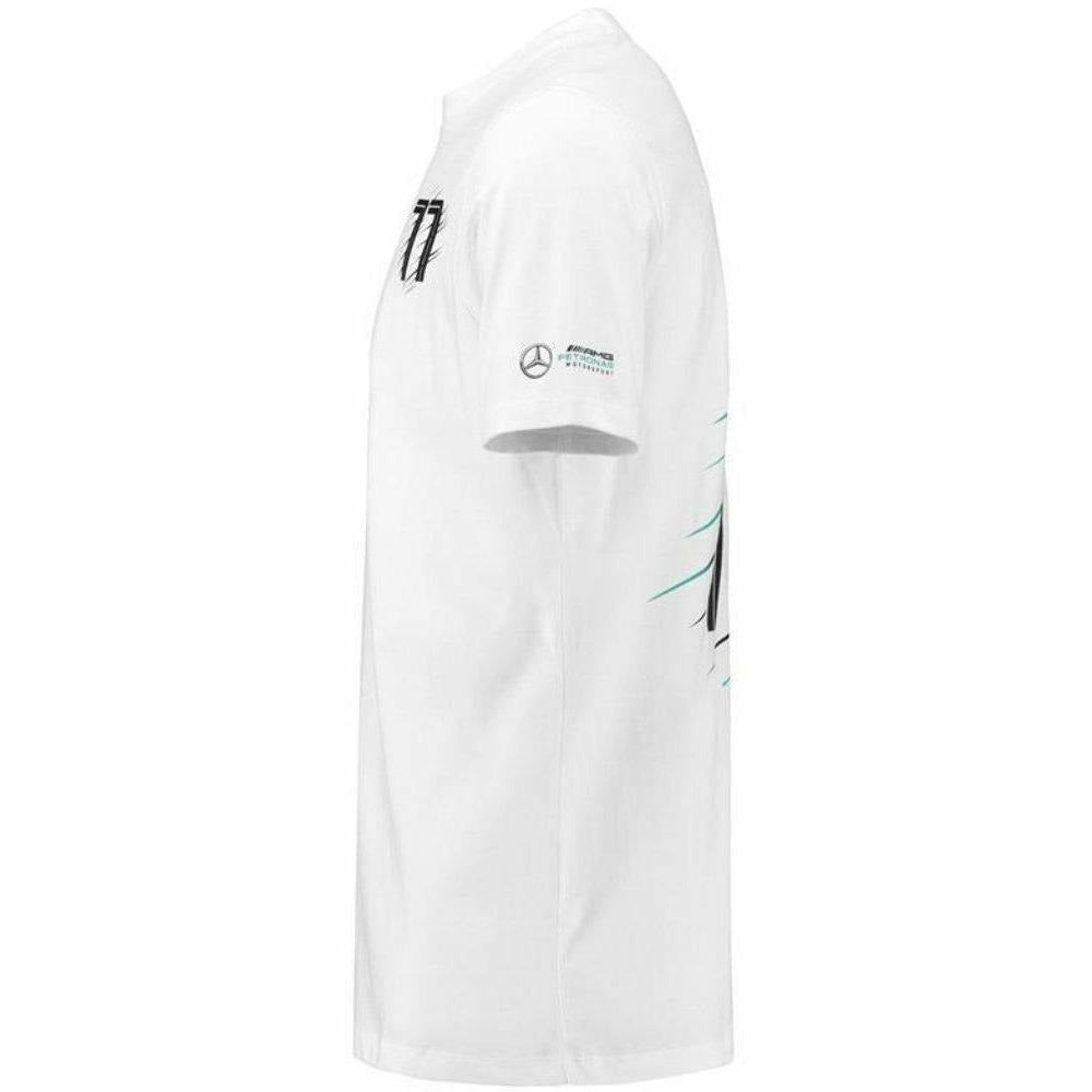 Mercedes Benz AMG Petronas 2018 Kids Valtteri Bottas #77 White T-Shirt
