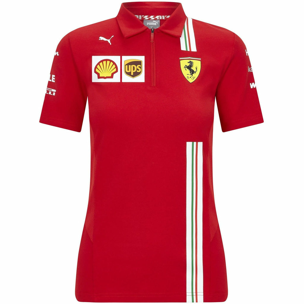 Scuderia Ferrari F1 Women's 2020 Team Polo Red