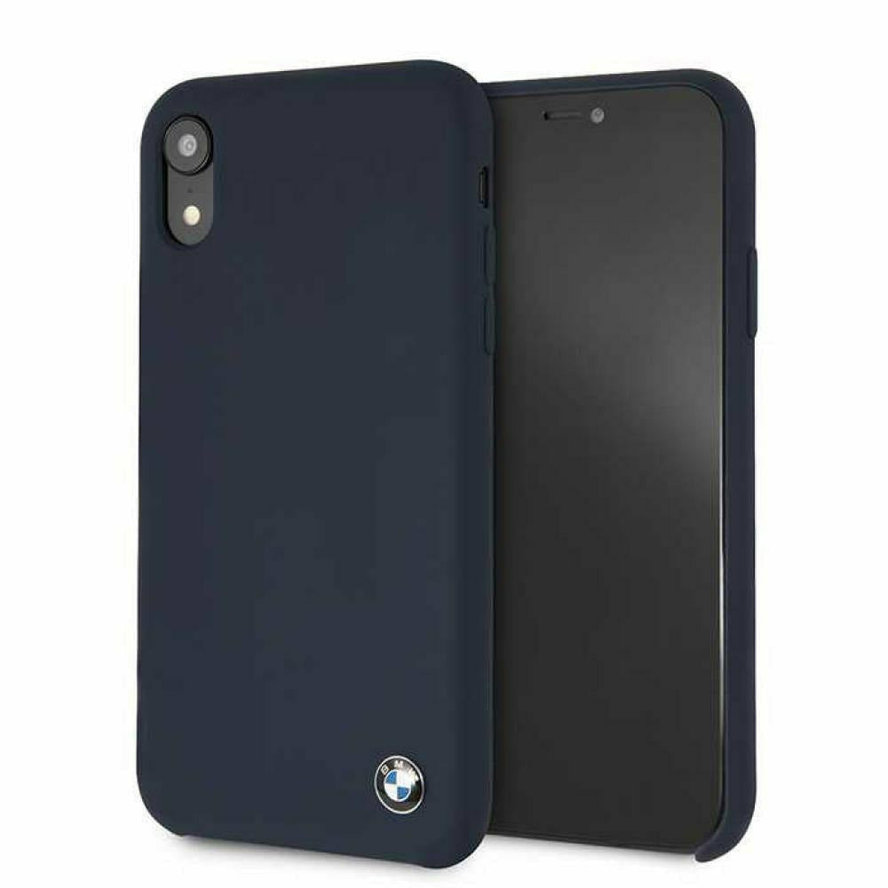 BMW Navy Silicone Hard Case, iPhone XR