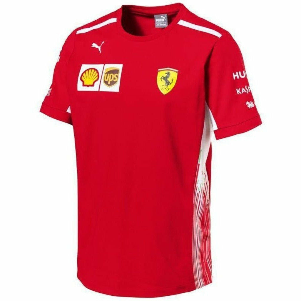 Scuderia Ferrari Formula 1 Men's Red 2018 Team T-Shirt w/Sponsors