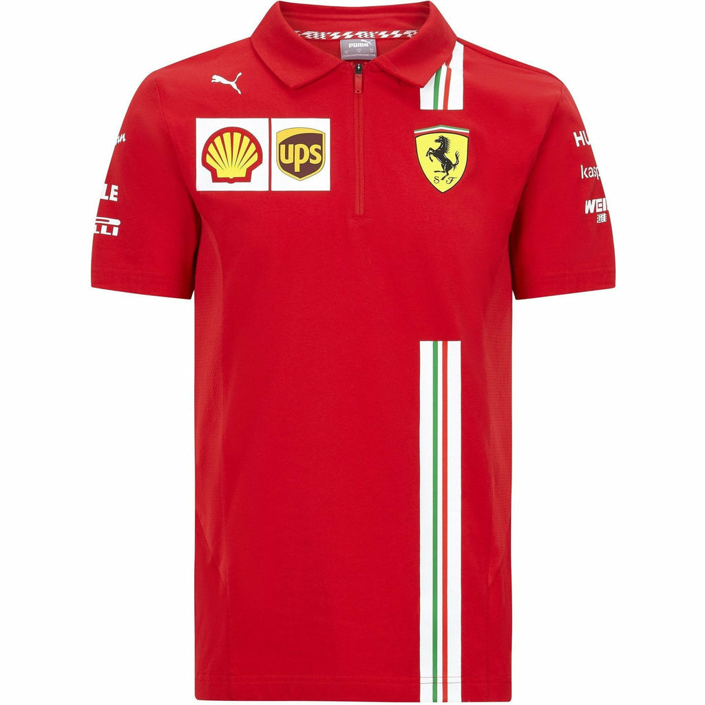 Scuderia Ferrari F1 Men's 2020 Team Polo Red