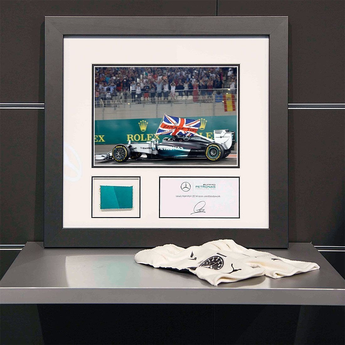 eb76150c401 Mercedes Benz AMG F1 Lewis Hamilton Abu Dhabi GP   Piece of Car Bodywork. Mercedes  Benz AMG F1 Lewis Hamilton Abu Dhabi GP   Piece of Car Bodywork