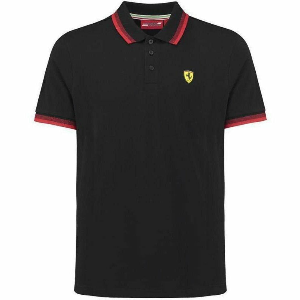Scuderia Ferrari Men's Formula 1 2018 Authentic Men's Black Contrast Collar Polo