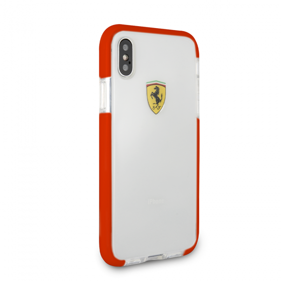 FERRARI TRANSPARENT SHOCKPROOF HARD CASE W/ BLACK BUMPER