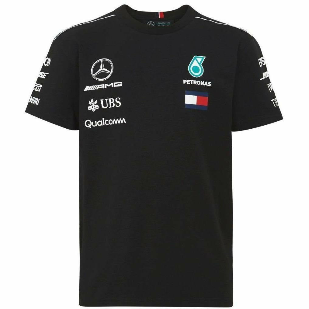 Mercedes Benz AMG Petronas Kids Black Authentic 2018 F1 Team T-Shirt