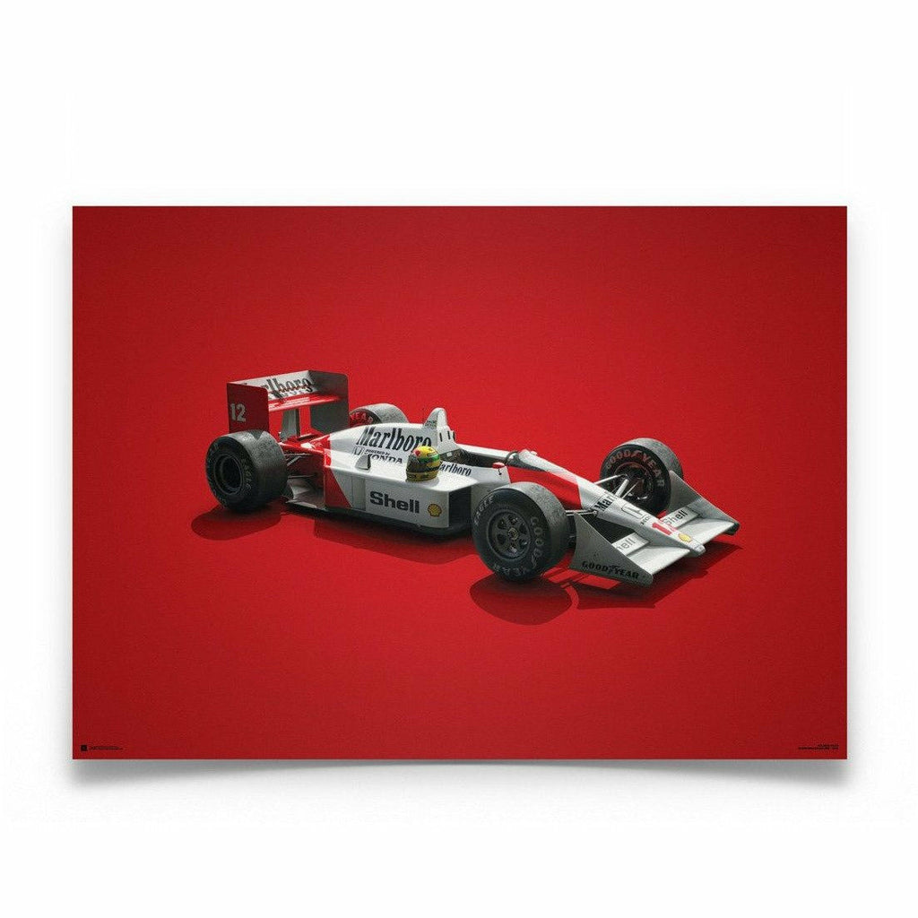 Ayrton Senna McLaren MP4/4 Colors of Speed Poster