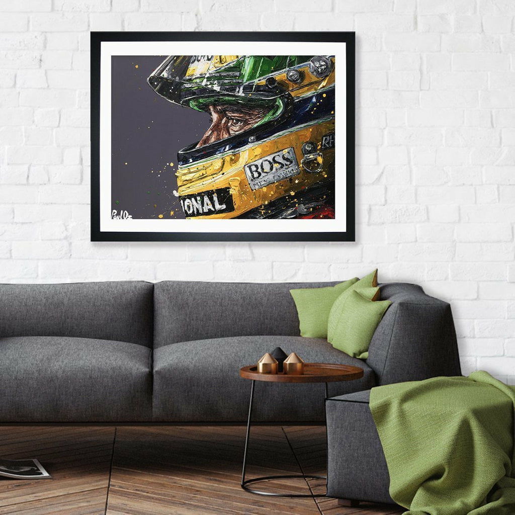 Ayrton Senna Framed Print-Paul Oz