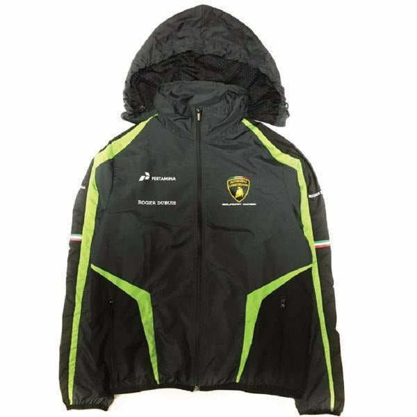 Lamborghini Squadra Corse 2019 Men's Waterproof Jacket Black