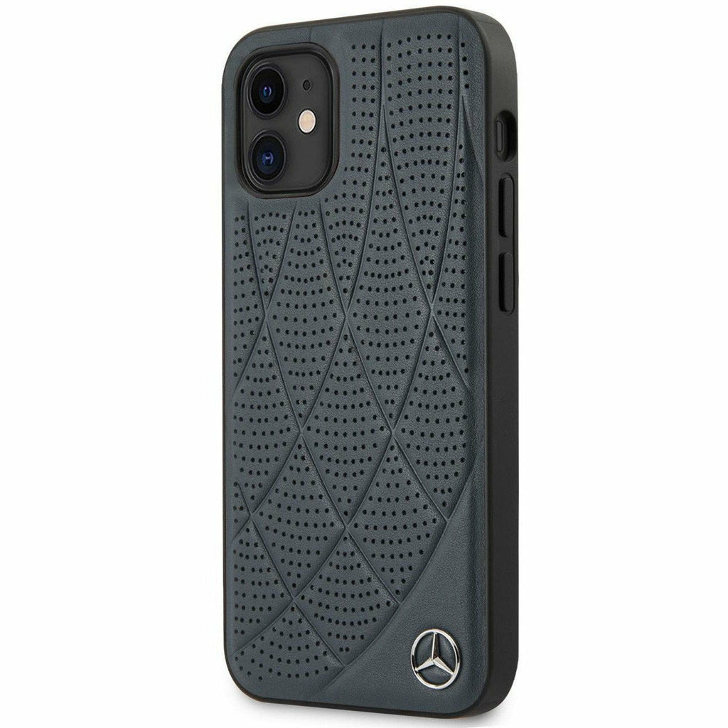Mercedes-AMG Petronas PHONE CASE FOR IPHONE 12 MINI HARD CASE GENUINE LEATHER QUILTED PERFORATED BOW LINE COLLECTION