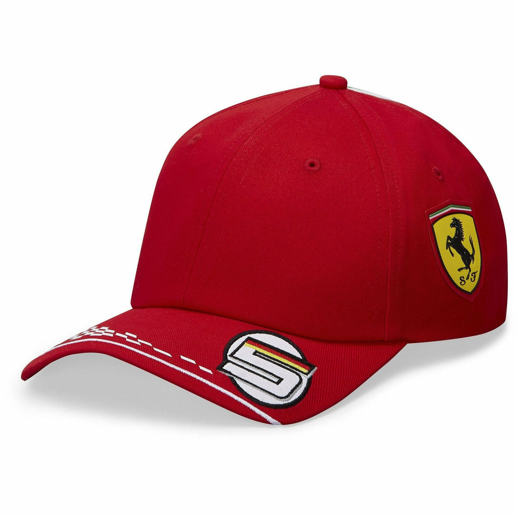 Scuderia Ferrari F1 2020 Kids Sebastian Vettel Team Hat Red