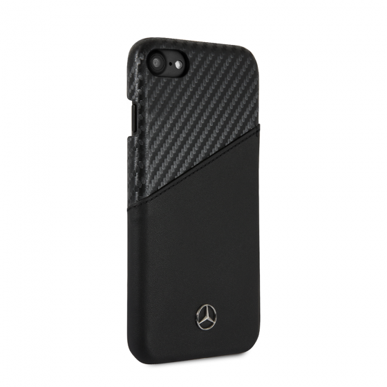 MERCEDES BENZ CARBON FIBER AND LEATHER DYNAMIC PATTERN CASE