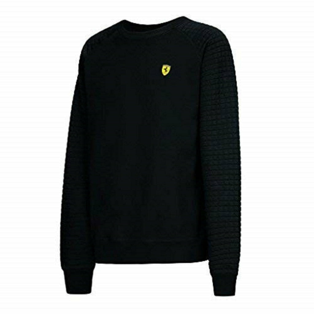 Ferrari Black Crew Sweatshirt with Quilt Arm (XL)