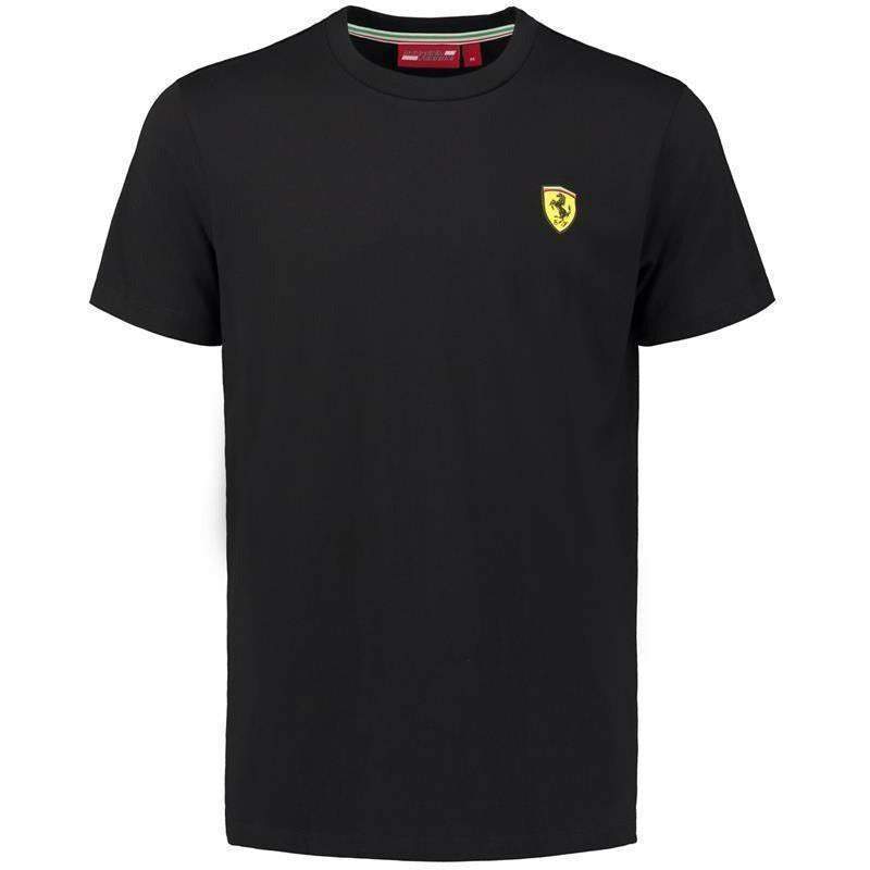 Ferrari Men's Black Classic Crew Neck 2018 T-shirt