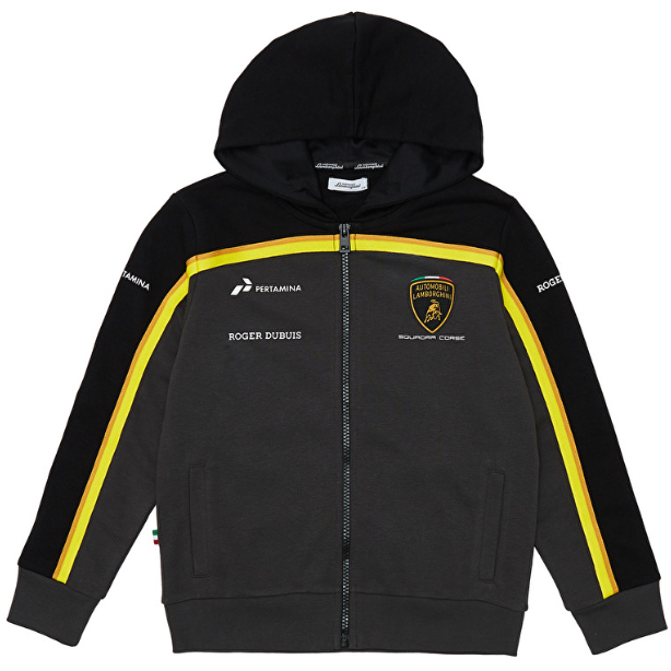 Automobili Lamborghini Gold 2019 Kids Black Hooded Sweatshirt