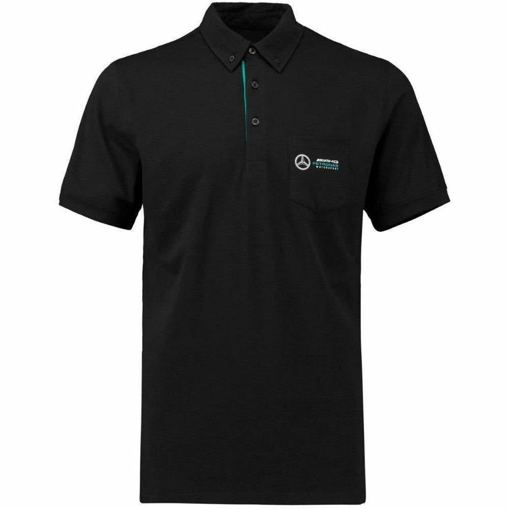 Mercedes Benz AMG Petronas Formula 1 Men's 2018 Black Classic Polo F1