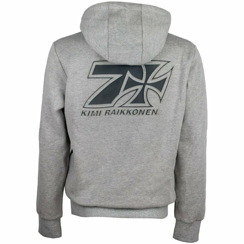 Kimi Räikkönen West Coast Choppers Men's Gray Hoodie Cross Seven