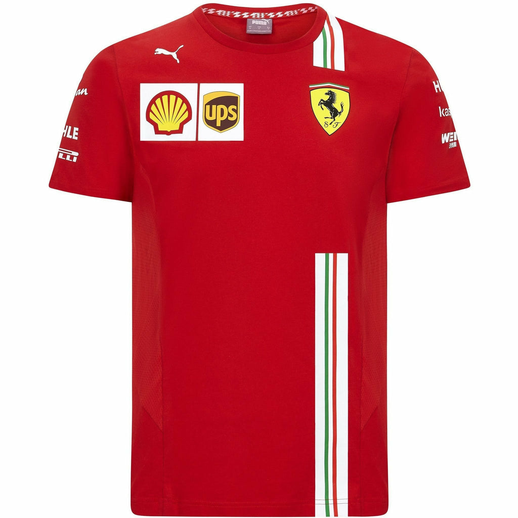 Scuderia Ferrari F1 Men's 2020 Team T-Shirt Red