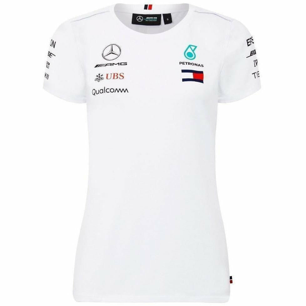 Mercedes Benz AMG Formula 1 Petronas White 2018 Women's Driver Team T-Shirt