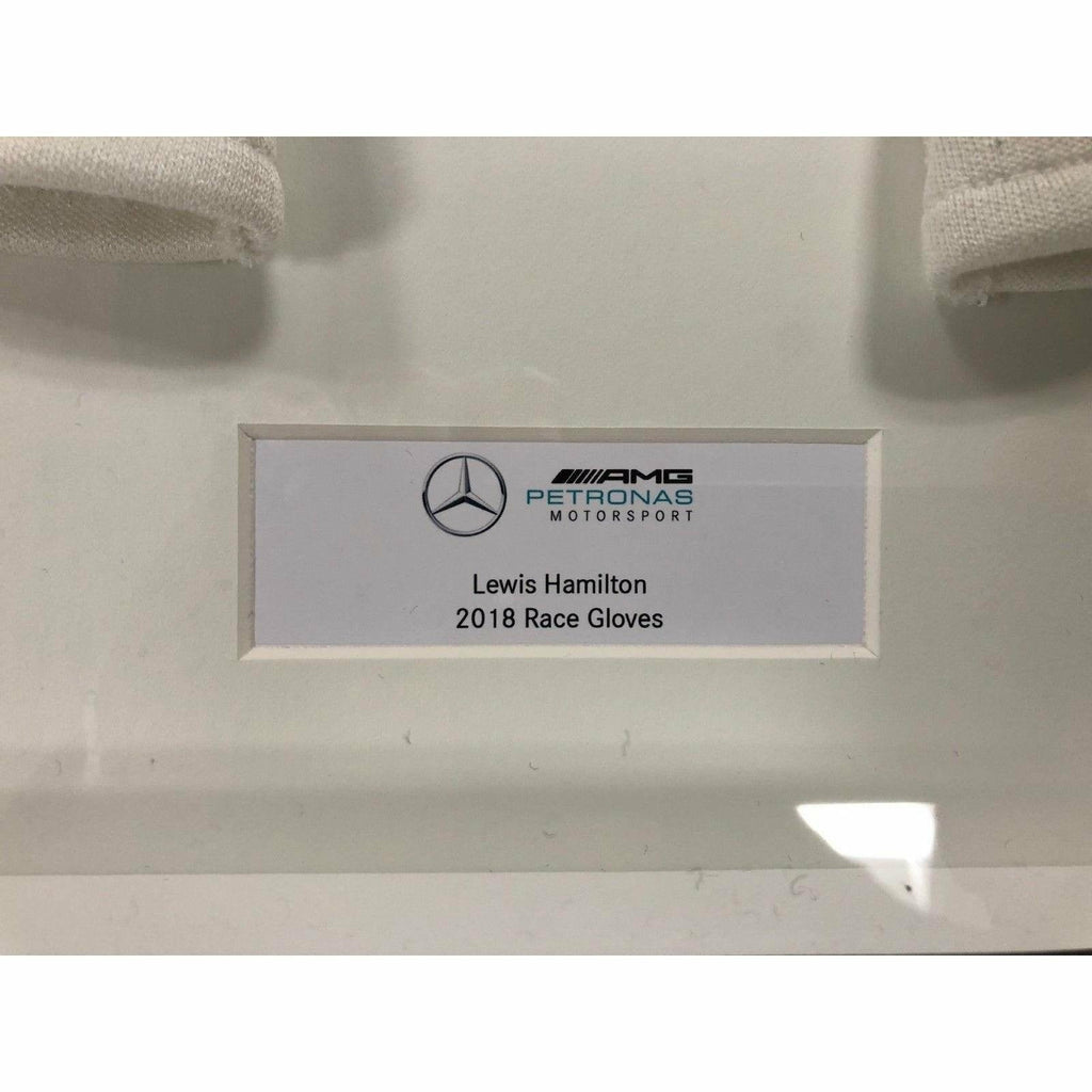 Mercedes Benz AMG F1 Lewis Hamilton Race-Spec Framed 2018 Replica White Gloves